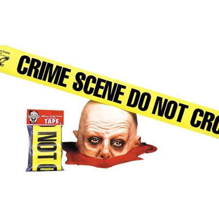 Morris Costumes Do Not Cross Crime Scene Tape Halloween Decoration](Halloween 1 Best Scenes)