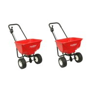 Earthway 2030P Plus Deluxe Estate Broadcast Seed Fertilizer Spreader (2 Pack)