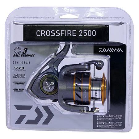 Daiwa Crossfire 3BI Spinning Reel 2500, 5.3:1 Gear Ratio, 3BB, 1RB Bearings, 31.10