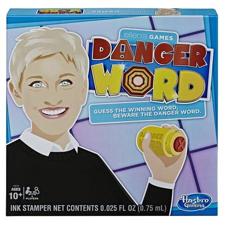 Ellen's Games Danger Word Game Ellen DeGeneres Game for 4 Players Ages 10 and Up