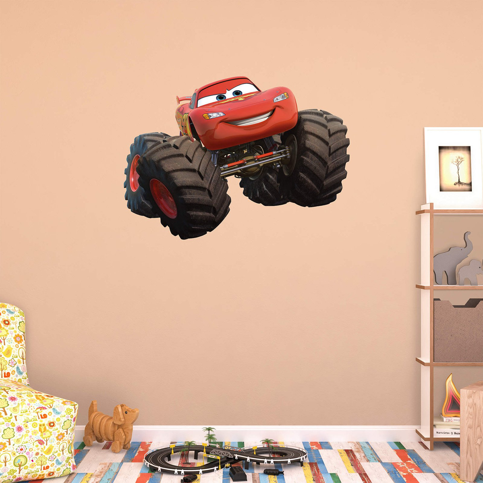 Fathead Monster Truck   Lightning McQueen Wall Decal Part 94