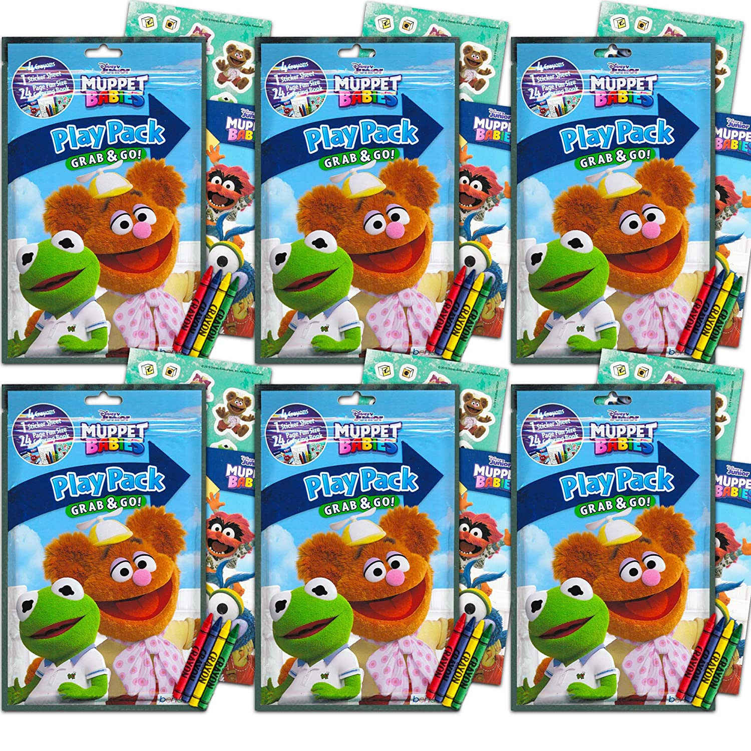 Muppet Babies Party Favors Pack ~ Bundle Of 6 Muppet Babies Play Packs  Filled With Stickers, Coloring Books, And Crayons (Muppet Babies Party  Supplies) - Walmart.com - Walmart.com
