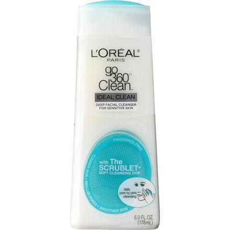 L'Oreal Paris Go 360 Clean Ideal Clean Deep Facial Cleanser, 6.0 Fl Oz