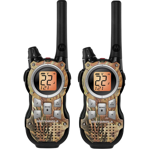 Motorola MR355R - 35 Mile Range Talkabout 2-Way Radios CAMO Series, PAIR