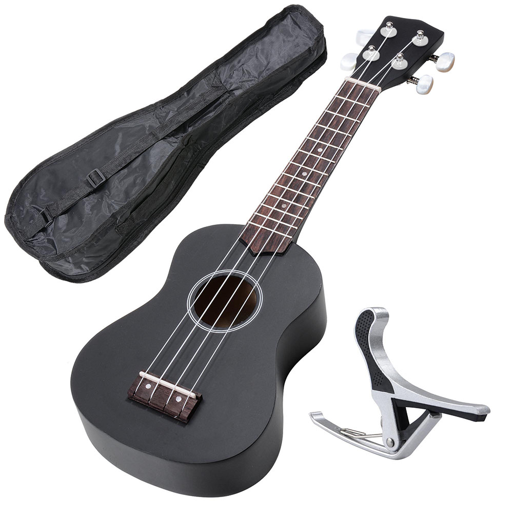 "21"" Soprano Ukulele Basswood w  Bag Aluminum Capo For Adult Kids Study Musical... by Yescom"