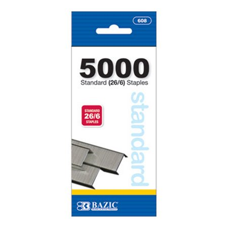 - New 402292   5000 Ct. Standard 26 / 6 Staples (24-Pack) Office Supply Cheap Wholesale Discount Bulk Stationery Office Supply Footed