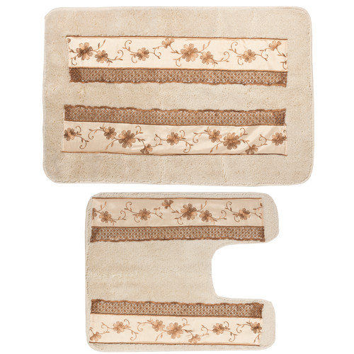 Sweet Home Collection Veronica 2 Piece Banded Bath Rug Set