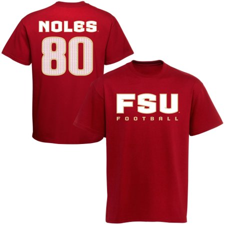 Florida State Seminoles (FSU) #80 Football T-Shirt - Garnet