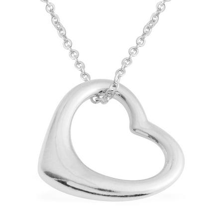 Chain Love Heart Valentines Pendant Necklace 18