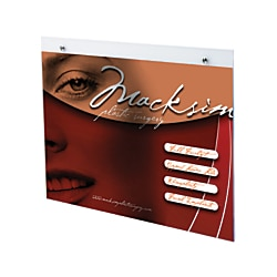 "OfficeMax® Brand Horizontal Wall Sign Holder, 7"" x 5"""