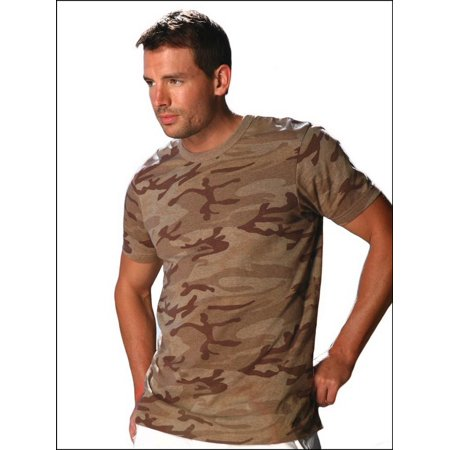 Kavio MJP0285X Guys 2XL Heather Camouflage Short Sleeve Muscle Tee Slcn Wsh-Camo Desert Sand-2XL