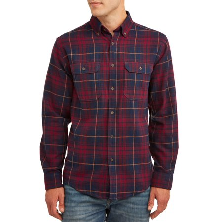 George Mens and Big Mens Long Sleeve Super Soft Flannel Shirt, up to size 3XLT