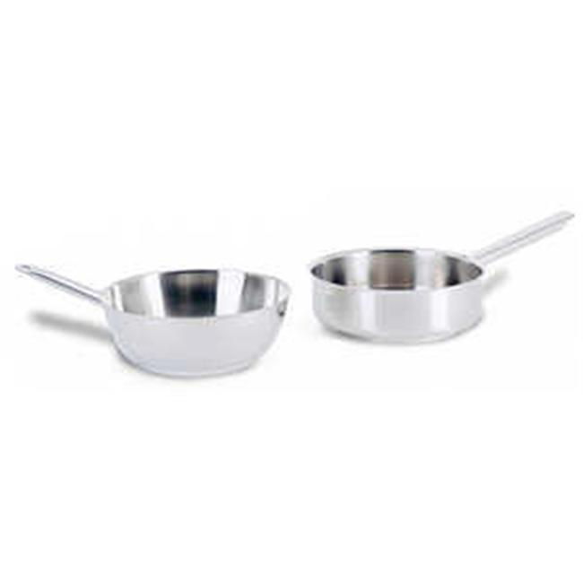 World Cuisine 11012-20 Stainless Steel Splayed Saute Pan 1. 8 Qts.