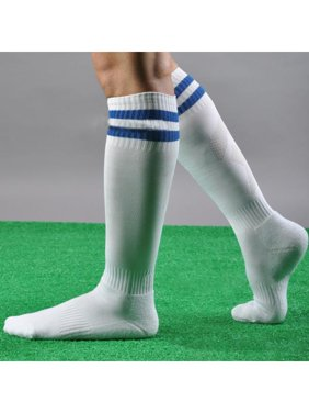 875e042e2 Product Image Men Women Striped Over The Knee Thigh High Stockings Football Sport  Long Socks