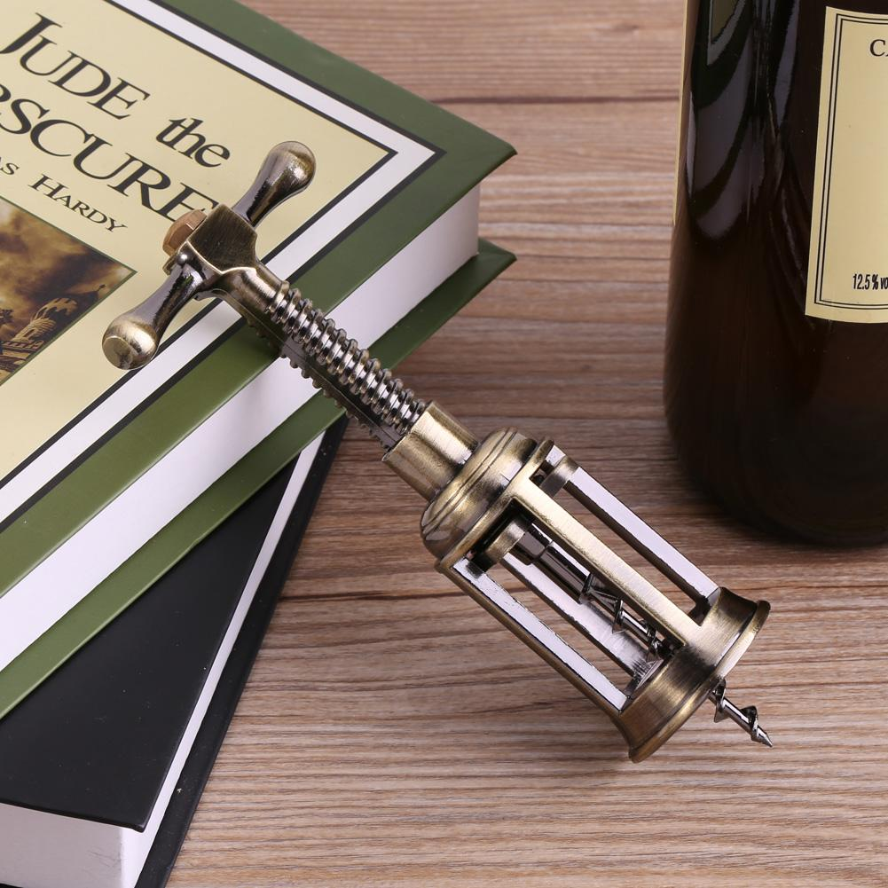 Corkscrew Cork Puller Remover Pub Bar Tool SunshineFace Zinc Alloy Multifunction Red Wine Beer Bottle Opener