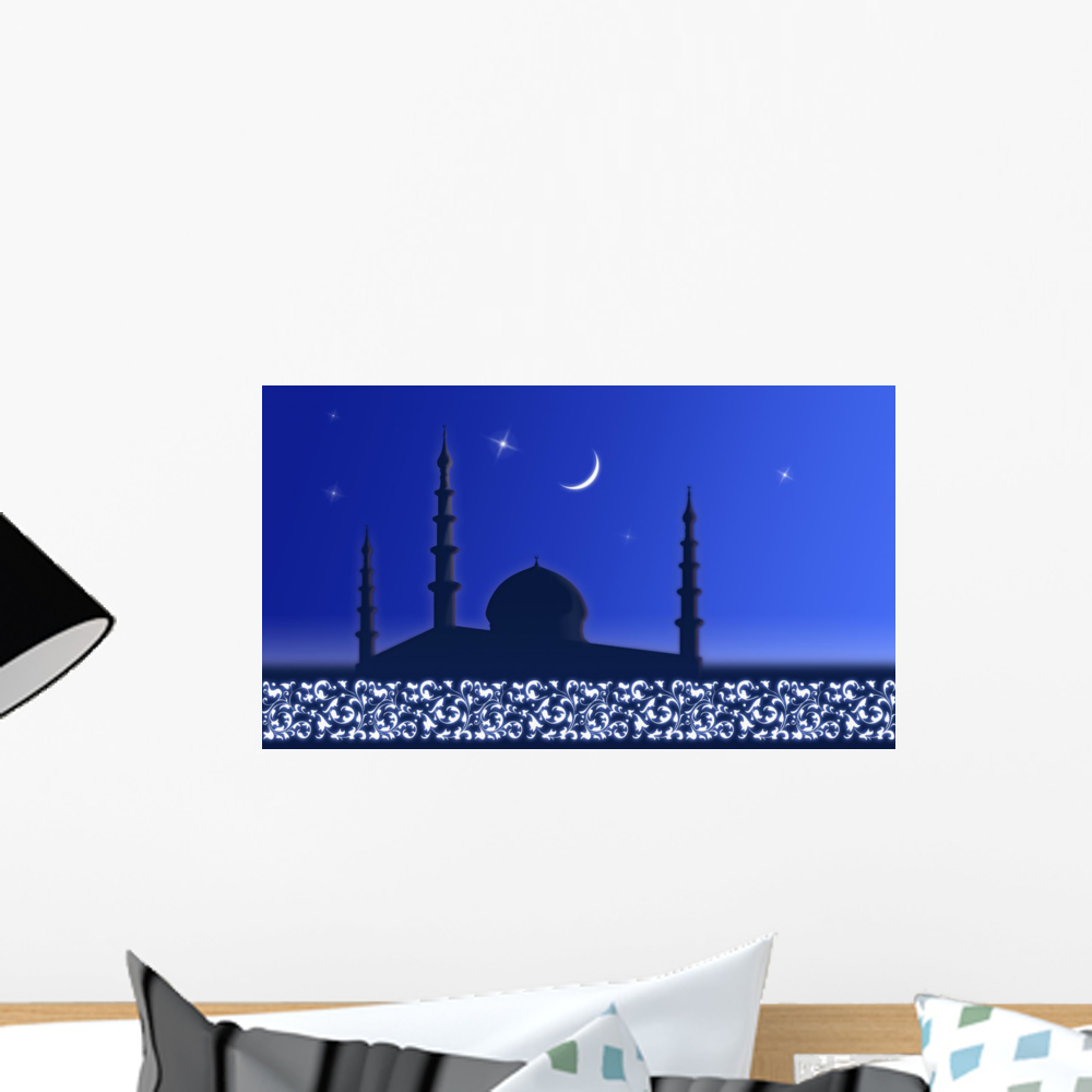 Welcome Ramadan Wall Mural by Wallmonkeys Peel and Stick Graphic (18 in W x 10... by Wallmonkeys Decals
