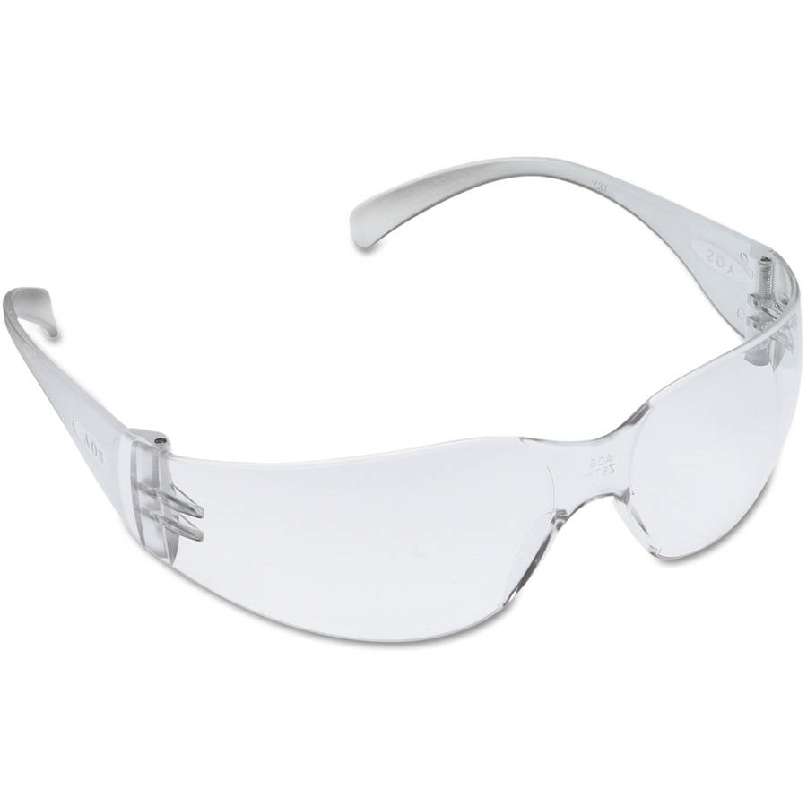 3M 11326 Virtua Safety Glasses, Clear Frame and Clear Polycarbonate Anti-Scratch Hard Coat... by 3M