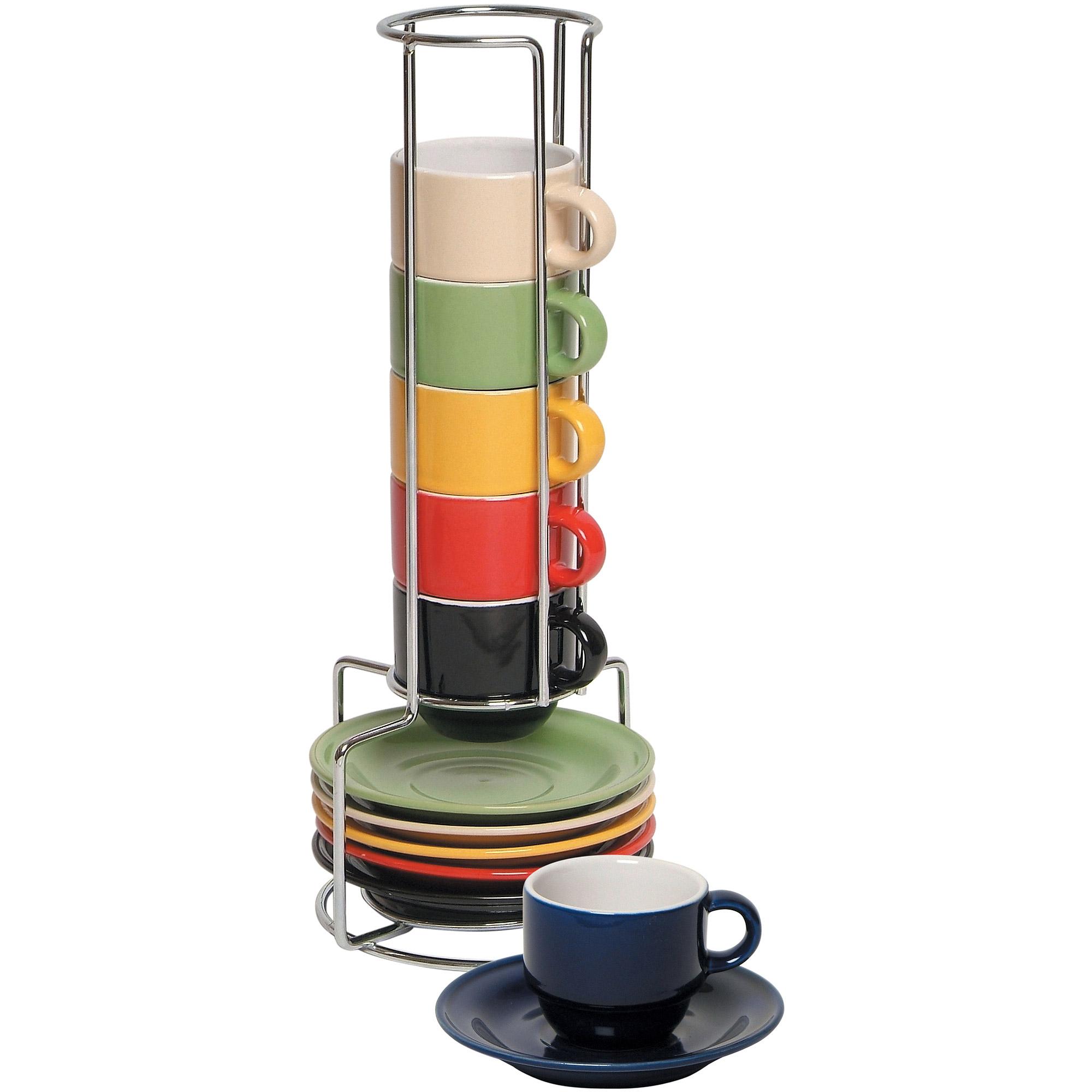 bonjour coffee piece insulated glass latte cup set  walmartcom -
