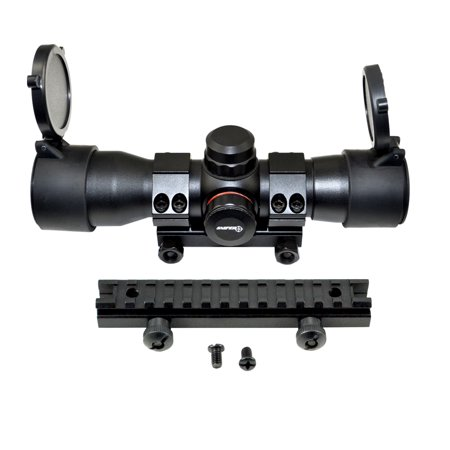 Sniper® Red / Green Dot Sight with Picatinny Riser Mount for Iron Sight Co-Witness (Red Dot Sniper Scope)