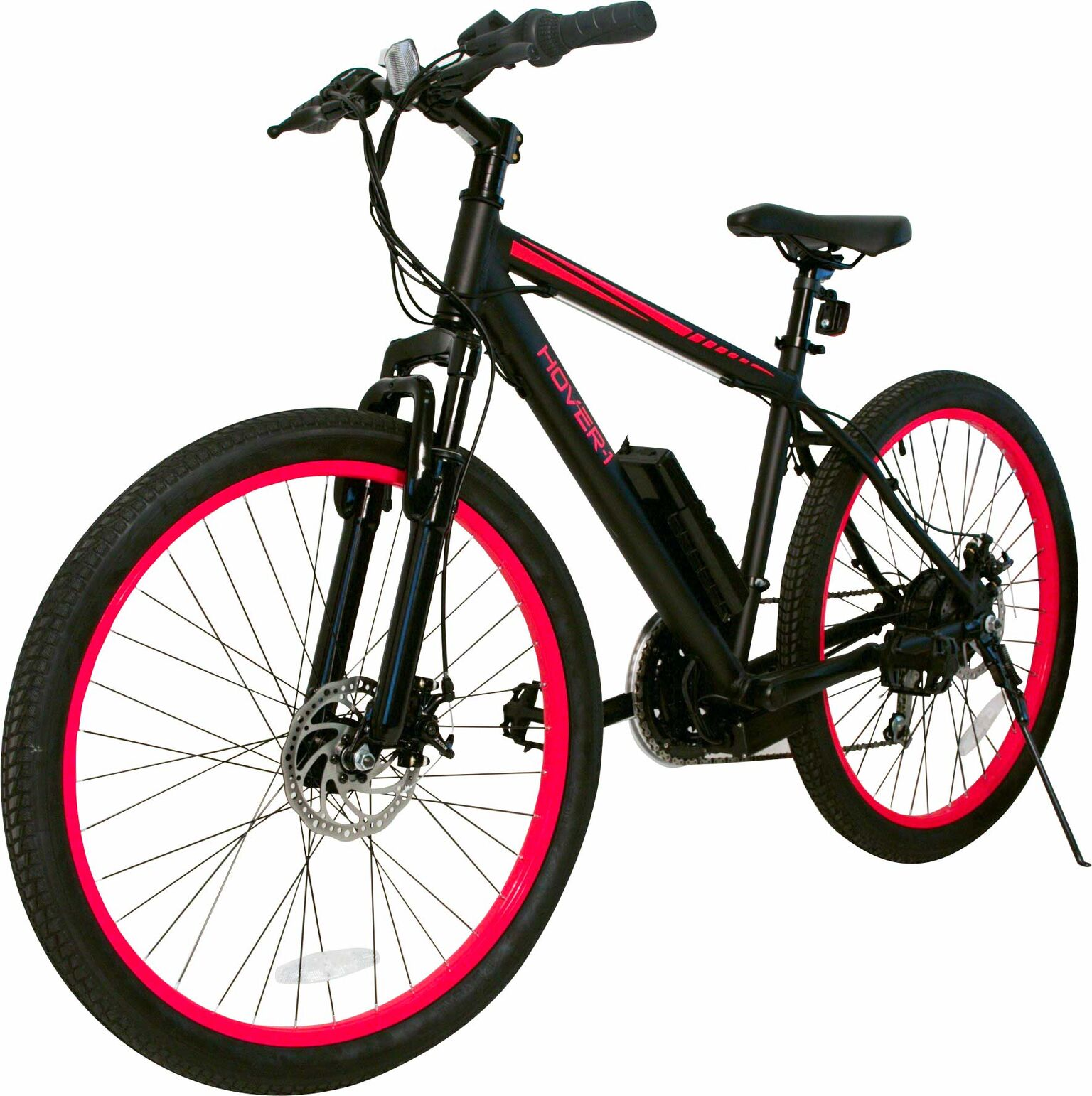 "Hover-1 Fuel UL Certified Pedal Assisted Electric Bike w/ 26"" Wheel, Alloy Frame, 3 Speed Mode, Removeable Battery, Shimano Derailer, Front & Rear Disc Breaks - Red and Black"