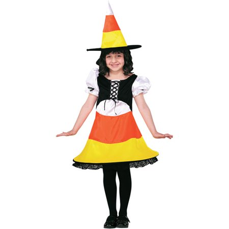 Candy Corn Witch Child Halloween Costume