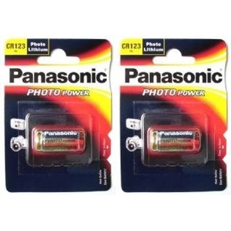 3v Photo Camera - 2 Pack Panasonic Cr123A Cr123 Dl123 3V Photo Lithium Camera Battery