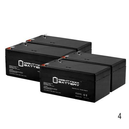 Eco Bb - ML3-12 12V 3.4AH Sealed Lead Acid (SLA) Battery for BB BP3-12 - 4 Pack