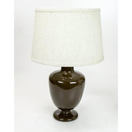 Laura Ashley Decor (Madeleine Table Lamp Base by Laura Ashley with Hardback Shallow Drum Textured Shade )
