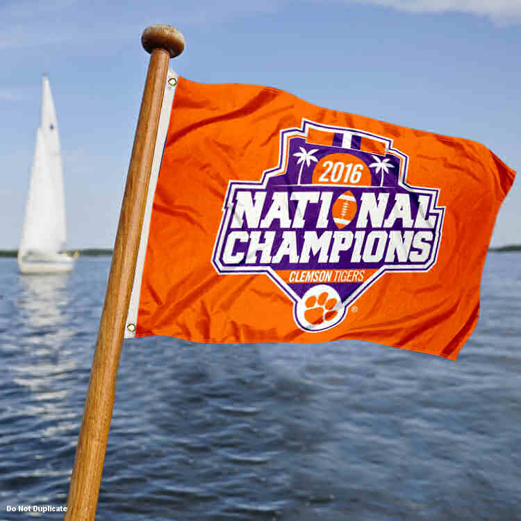 Clemson 2016 NCAA Football National Champs Boat Flag by College Flags and Banners Co.