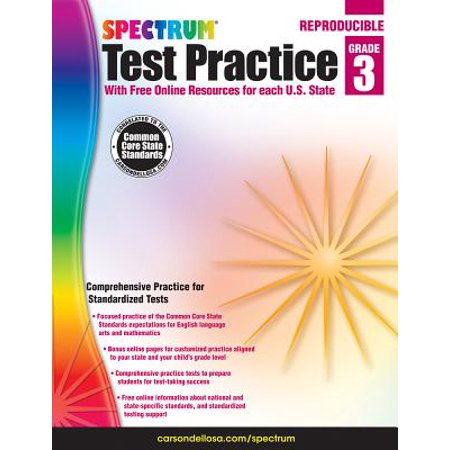 Spectrum Test Practice, Grade 3 - Spectrum Of Colors