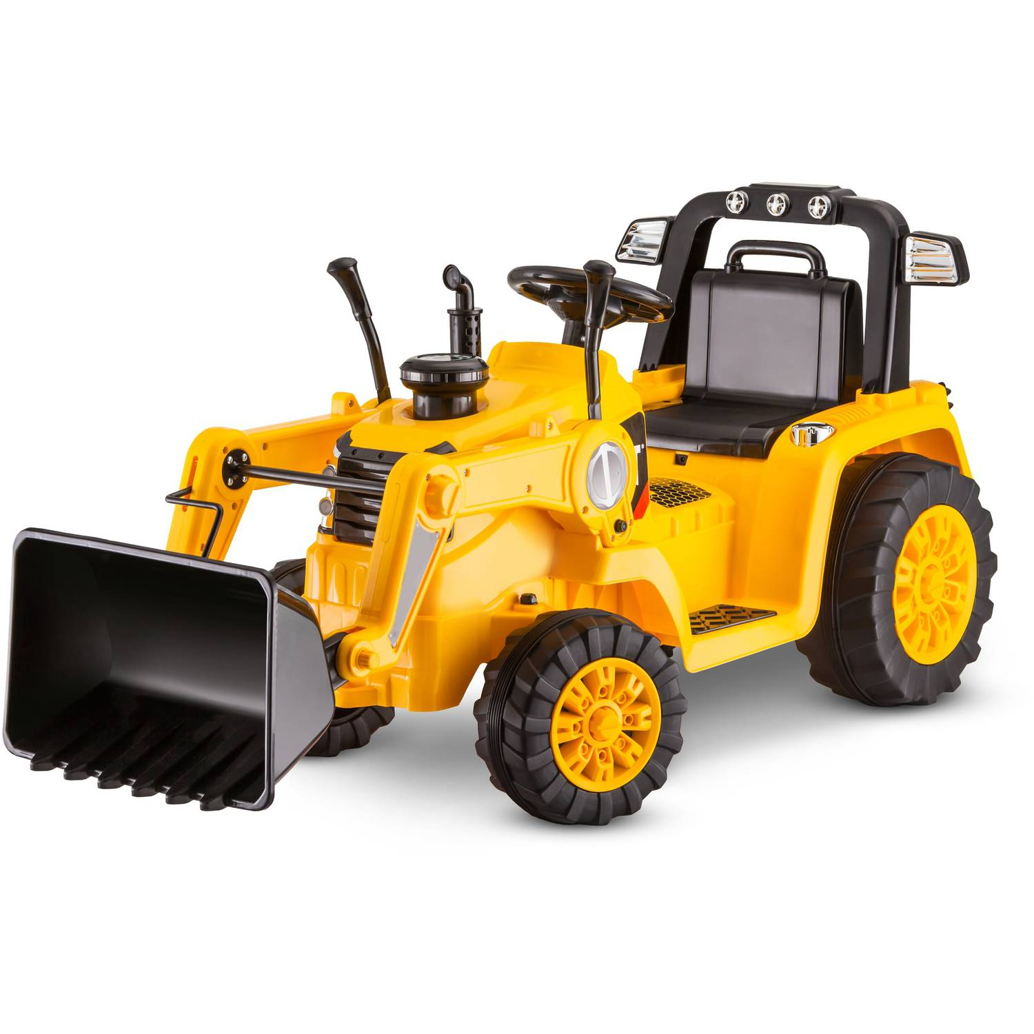Cat Power Wheels Tractor : Kidtrax cat bulldozer tractor v powered ride on yellow