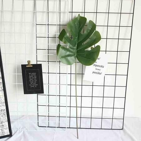 Hibetterlife Artificial Palm Fern Turtle Leaf Plant Tree Branch Green Wedding Home Decor ()