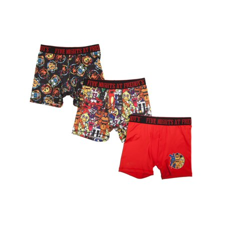 Five Nights at Freddy's Boys' Boxer Briefs, 3 Pack, Size 4