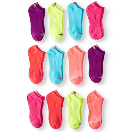 Ladies No Show Socks, 12 Pack