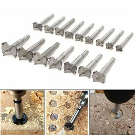 New Professional 16Pc Forstner Drill Bit Set Woodworking Hole Saw Forstner Set