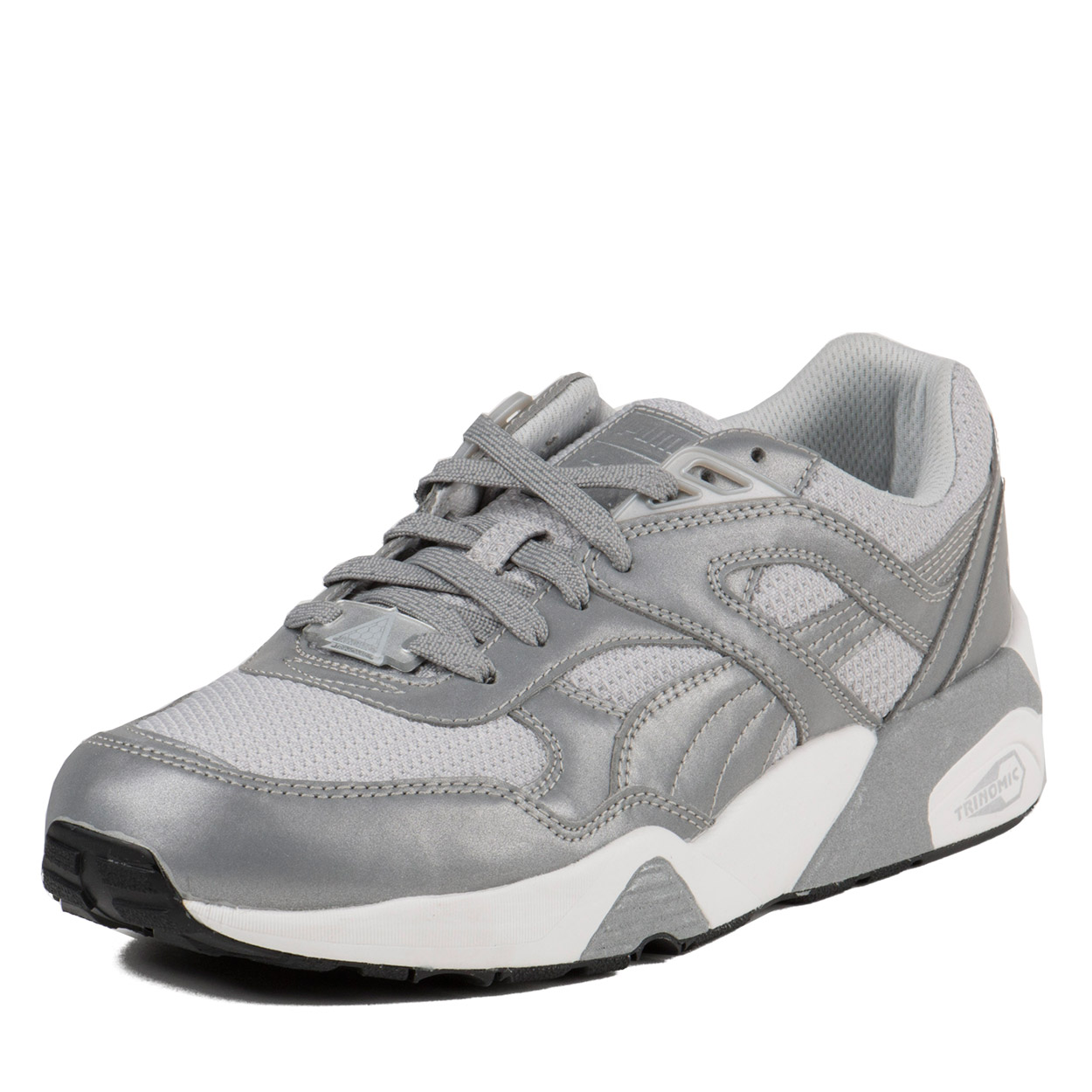 Puma Mens Trinomic R698 Reflective Silver metallic Black 358635-01 by Puma