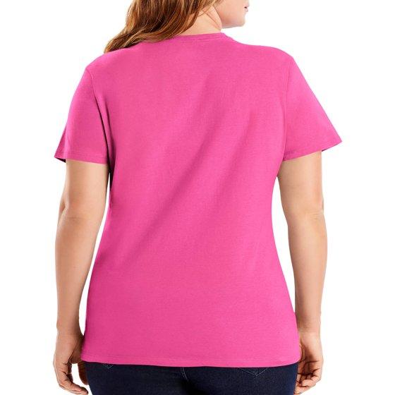 292488b29 Hanes - Women's Plus Size Lightweight Short Sleeve T-shirt - Walmart.com