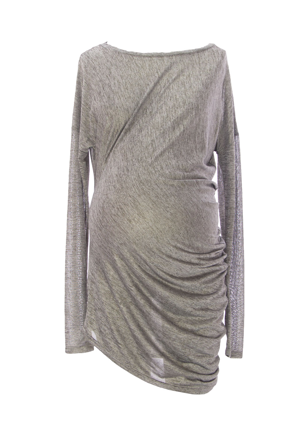 9FASHION Maternity Women's Gwen Asymmetrical Tunic, Small, Metallic