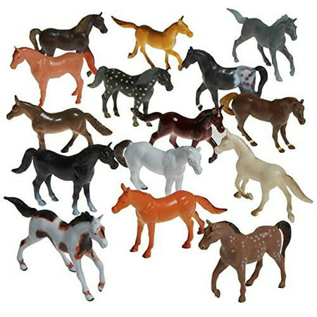 Prextex Plastic Horses Party Favors, 16 Count (All different horses in various poses and colors) Best Gift For Boys Toys For boys by Prextex.com](Horse Theme Party Supplies)