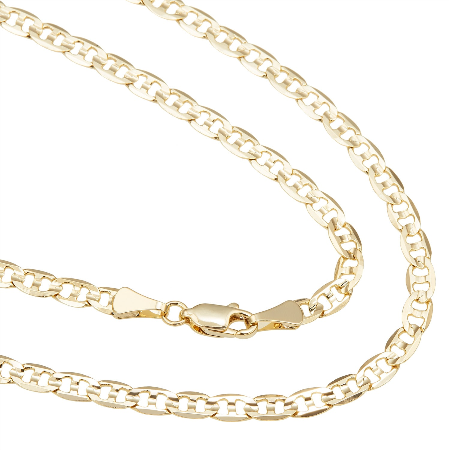 Simon Frank  Gold Overlay 4mm Gucci-style Necklace (20-30 inch)