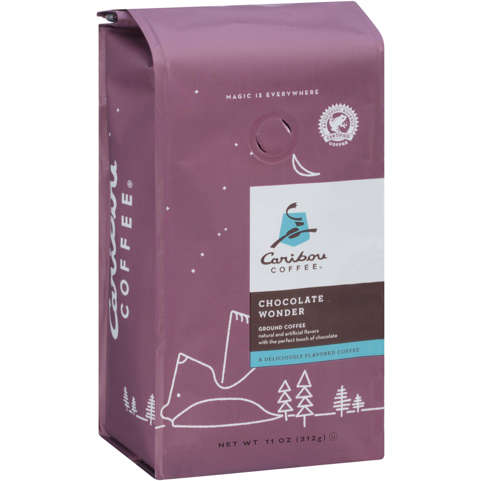 Caribou Coffee Chocolate Wonder Ground Coffee, 11 oz