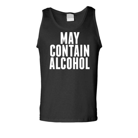 MAY CONTAIN ALCOHOL - beer party drinking - Mens Tank Top
