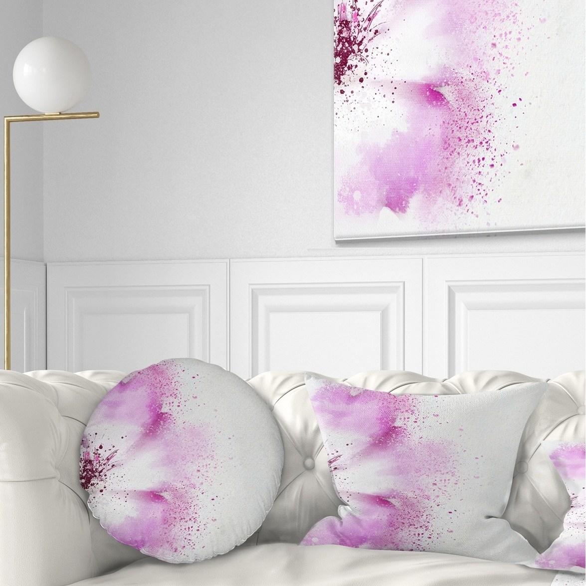 DESIGN ART Designart 'Abstract Purple Daisy Flower' Flowers Throw Pillowwork