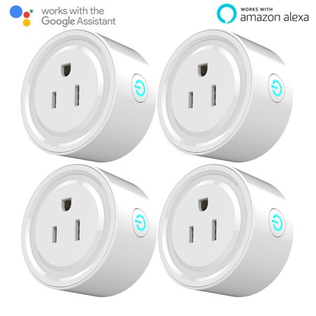 Wifi Smart Plug, Mini Outlet Wireless Smart Switch WIFI Automation Power Socket Smart Home Charging Adapter works with Amazon Alexa Echo and Google Home Assistant, Remote Control Devices from Anywhere