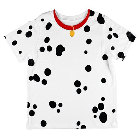 dog dalmatian costume red collar all over toddler t shirt