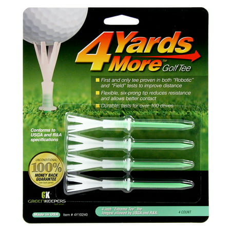 4 Yards More Reduced Friction Golf Tees 4
