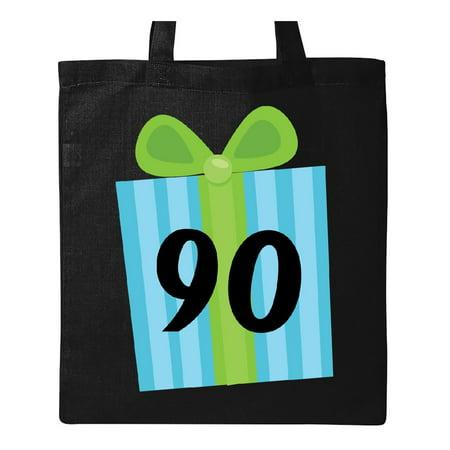 90th Birthday Gift Tote Bag Black One