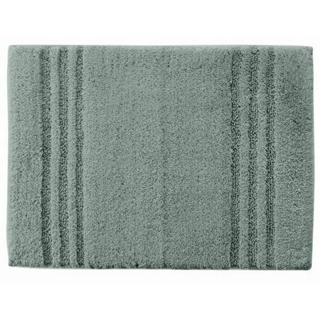 Simply Vera Plush Bath Rug Slate Skid Resistant Cotton Mat 17x24