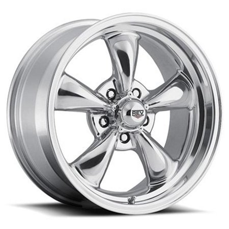 Drake 100P560650 15 x 6 in. 5 x 114.3 100 Classic Series Polished Aluminum Wheels