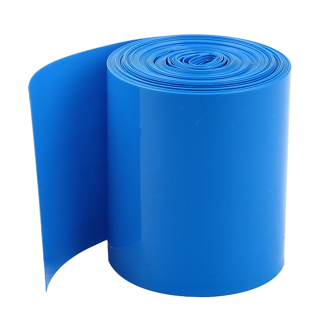 Unique Bargains 5Meters 50mm Width PVC Heat Shrink Wrap Tube Blue for 2 x 18650 Battery